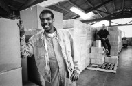 Employees in Farallon's shipping department., Employees in Farallon's shipping department.