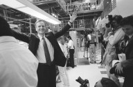 Apple CEO John Sculley faces the media., Apple CEO John Sculley faces the media.
