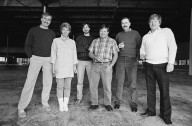 From left to right, Kim Silverton, Manufacturing Manager Laura Wilkin, CEO Steve Jobs, an unidentified employee, Vice President of Manufacturing and NeXT co-founder Randy Heffner and Norm O'Shea on the factory floor in Fremont, California., From left to right, Kim Silverton, Manufacturing Manager Laura Wilkin, CEO Steve Jobs, an unidentified employee, Vice President of Manufacturing and NeXT co-founder Randy Heffner and Norm O'Shea on the factory floor in Fremont, California.