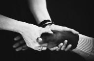 A Farallon employee receives an on-site hand massage., A Farallon employee receives an on-site hand massage.