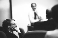 Venture capitalist John Doerr, an original Sun investor and a member of Sun's Board of Directors, listens during an August 1992 Board of Directors meeting., Venture capitalist John Doerr, an original Sun investor and a member of Sun's Board of Directors, listens during an August 1992 Board of Directors meeting.