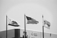 Flags outside of Sun's headquarters in Mountain View, California., Flags outside of Sun's headquarters in Mountain View, California.