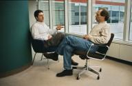 IBM researcher Daniel Edelstein (left) in conversation with a colleague., IBM researcher Daniel Edelstein (left) in conversation with a colleague.