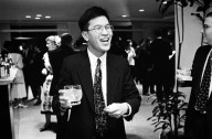 Newton Product Marketing Manager Michael Tchao was the first marketing person to join the Newton project, in 1990 when he was 26-years-old., Newton Product Marketing Manager Michael Tchao was the first marketing person to join the Newton project, in 1990 when he was 26-years-old.