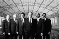 Apple's executive management team (from left to right): Kevin Sullivan, senior vice president of human resources; Albert Eisenstat, executive vice president and secretary; Michael Spindler, president and chief operating officer; John Sculley, chairman of the board and chief executive officer; David Nagel, senior vice president of the advanced technology group; and Joseph Graziano, executive vice president and chief financial officer, in the Apple Research and Development Center in Cupertino California., Apple's executive management team (from left to right): Kevin Sullivan, senior vice president of human resources; Albert Eisenstat, executive vice president and secretary; Michael Spindler, president and chief operating officer; John Sculley, chairman of the board and chief executive officer; David Nagel, senior vice president of the advanced technology group; and Joseph Graziano, executive vice president and chief financial officer, in the Apple Research and Development Center in Cupertino California.