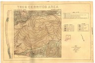 Tres Cerritos area topography and geology, Tres Cerritos area topography and geology