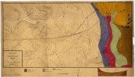Geologic and topographic map of section S.W. of L.S.Jr.U., Geologic and topographic map of section S.W. of L.S.Jr.U.