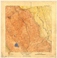 Geologic and topographic map of region north west of Searsville Reservoir, Geologic and topographic map of region north west of Searsville Reservoir
