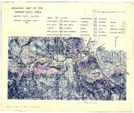 Geologic map of the Arroyo Seco area, Monterey County, California., Geologic map of the Arroyo Seco area, Monterey County, California.