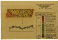 Areal geology and cross section, Sedimentary area of Emmigrant Pass, Edna Mts.--Nevada [Battle Mountain quadrangle], Areal geology and cross section, Sedimentary area of Emmigrant Pass, Edna Mts.--Nevada [Battle Mountain quadrangle]