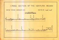 Cross section of the Ventura region [Santa Paula & Ventura quadrangles], Cross section of the Ventura region [Santa Paula & Ventura quadrangles]