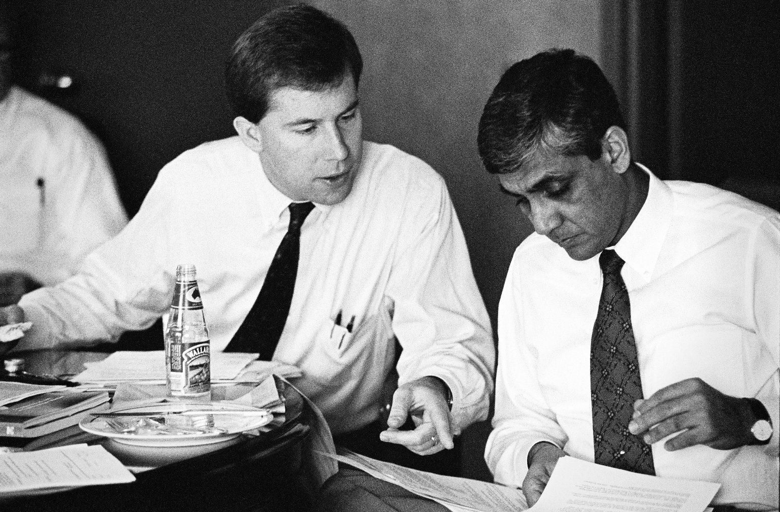 Doug Mackenzie and Vinod Khosla of Kleiner Perkins.