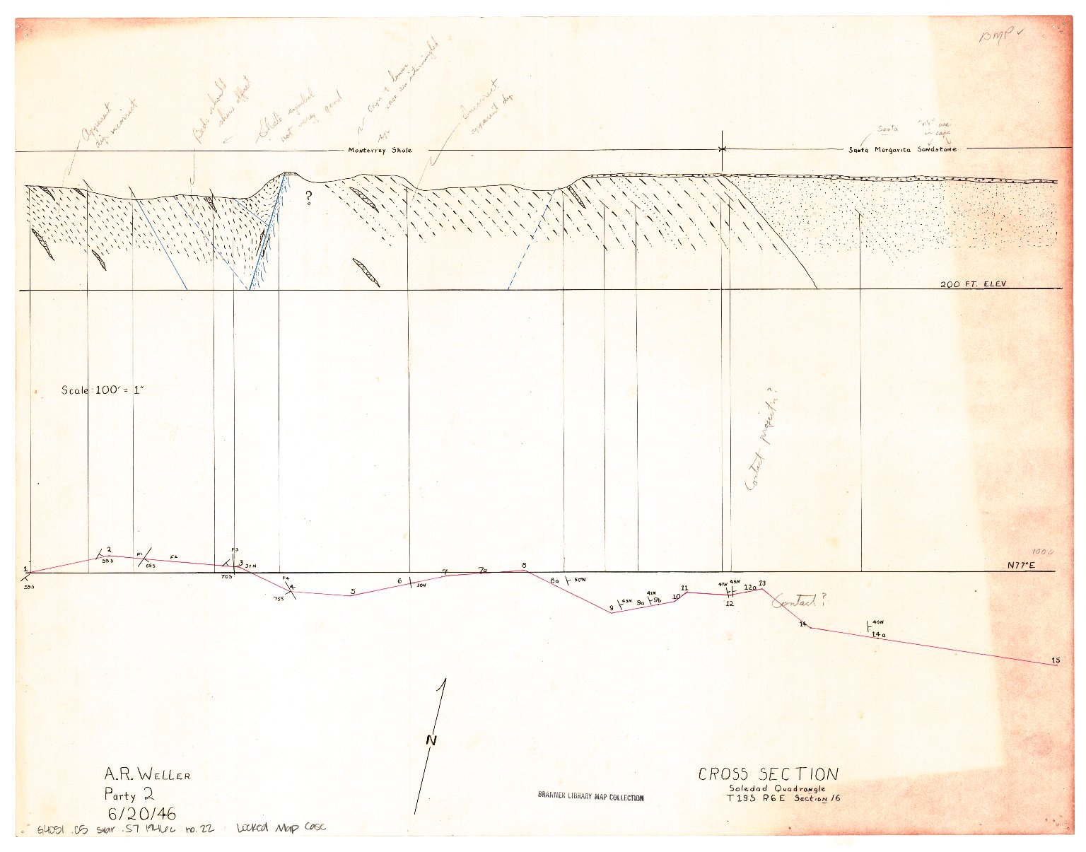 Geologic map of the Arroyo Seco area