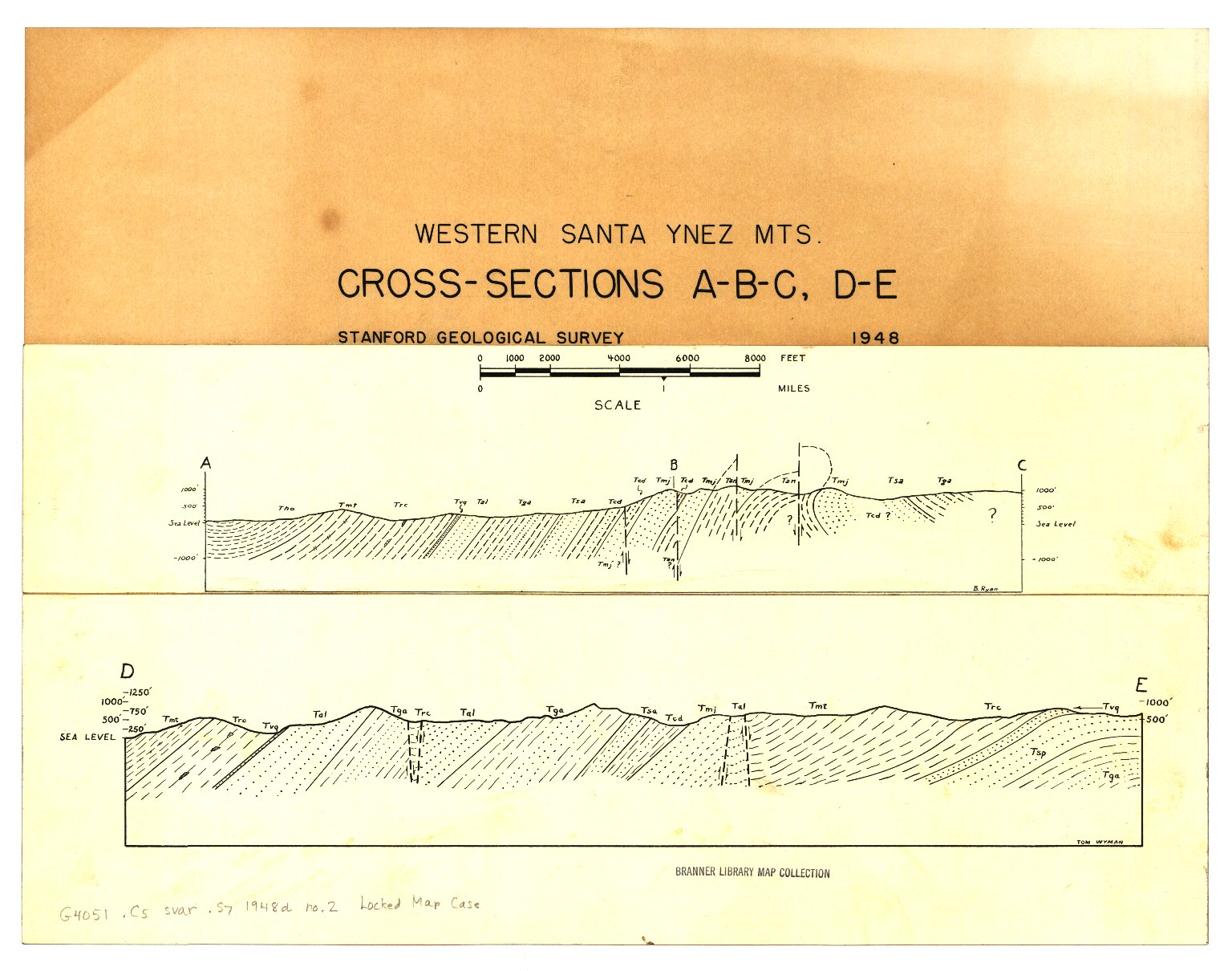 Geology of part of the western Santa Ynez Mountains, Santa Barbara County, California