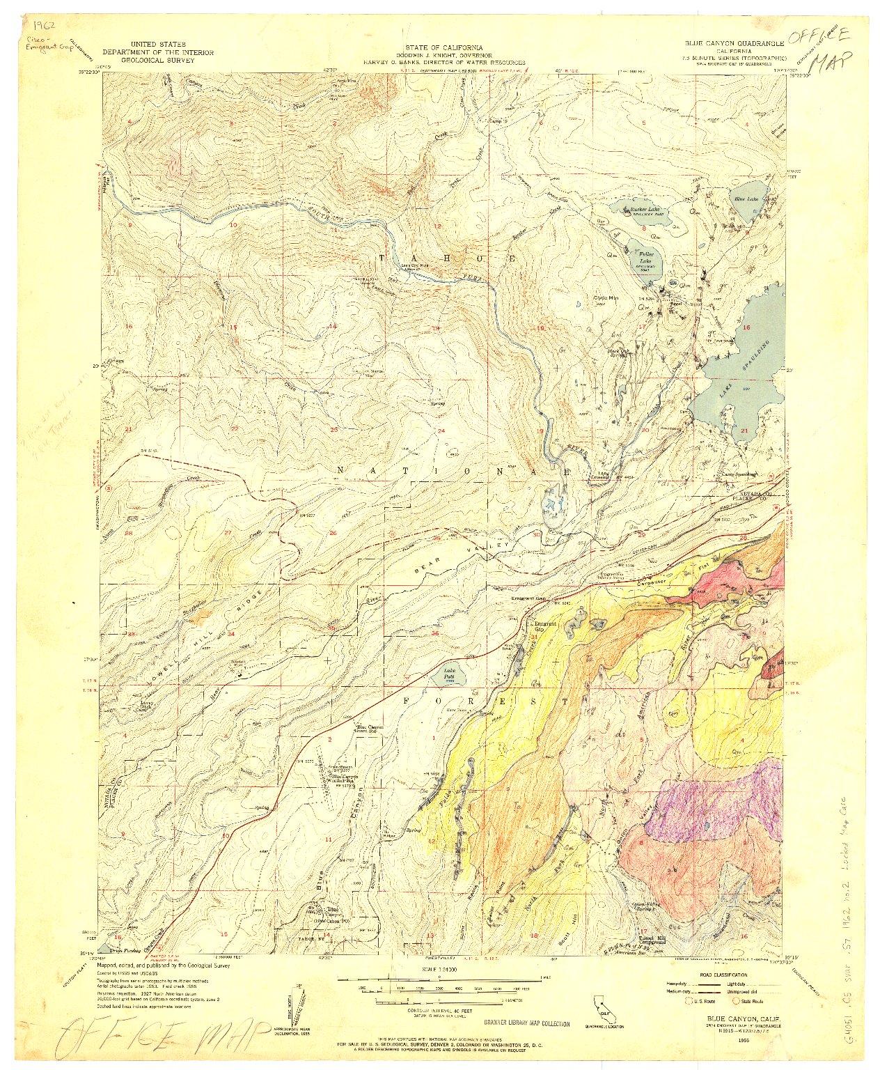 Geologic map of Cisco-Emigrant Gap quadrangle, Nevada and Placer ...