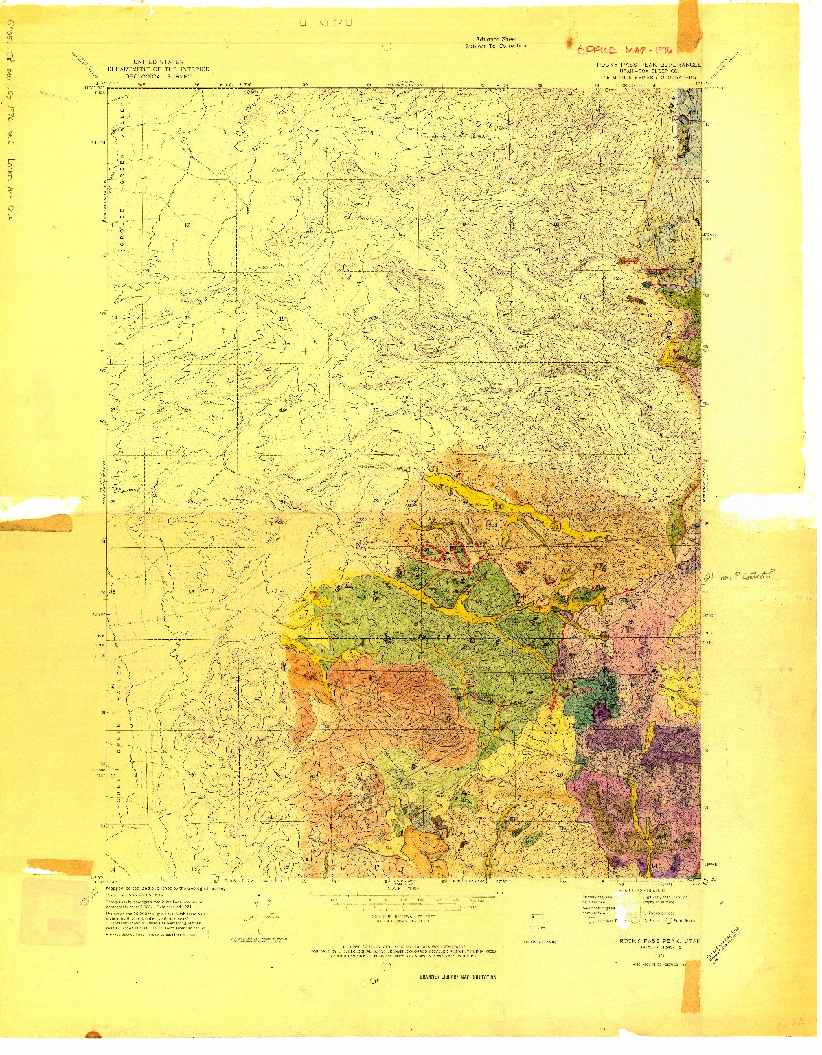 Grouse Creek Utah Map.Geologic Map Of The Southern Part Of The Grouse Creek Mountains Box