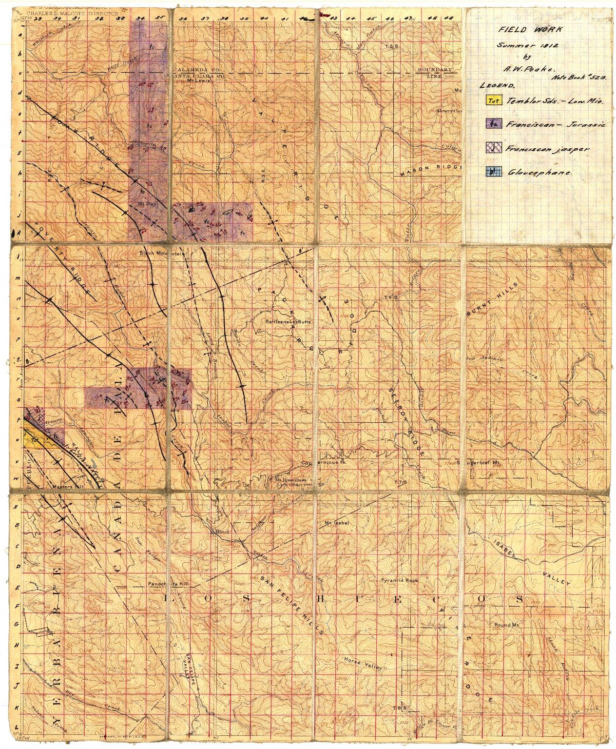California, Mt. Hamilton sheet: