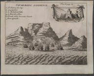 Engraving of Cape., Engraving of Cape.
