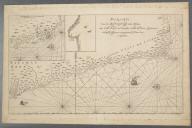 Pas-karte van de Zuyd-west-kust van Africa; van Cabo Negro tot beoosten Cabo de Bona Esperanca., Pas-karte van de Zuyd-west-kust van Africa; van Cabo Negro tot beoosten Cabo de Bona Esperanca.