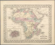 Map of Africa Showing its most Recent Discoveries., Map of Africa Showing its most Recent Discoveries.