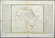 Lacs, Fleuves, Rivieres et Principales Montagnes de L'Afrique., Lacs, Fleuves, Rivieres et Principales Montagnes de L'Afrique.