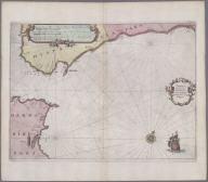 Tabula transitus Gibraltaris cum Portibus Hispanicis usq. Malagam., Tabula transitus Gibraltaris cum Portibus Hispanicis usq. Malagam.