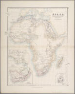 Africa with the discoveries to May 1858 of Livingstone, Barth, Vogel and the Chadda expedition from documents in possession of the Royal Geographical Society., Africa with the discoveries to May 1858 of Livingstone, Barth, Vogel and the Chadda expedition from documents in possession of the Royal Geographical Society.