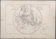 Mappe Monde, Sur Un Plan Horisontal. Situe a 45d de latitude Nord. Hemiphere Oriental., Mappe Monde, Sur Un Plan Horisontal. Situe a 45d de latitude Nord. Hemiphere Oriental.