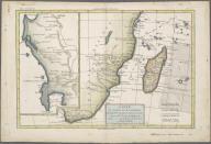 Carte du Canal de Mosambique, contenant L'Isle de Madagascar les Cotes d'Afrique, depuis le Cap de Bonne Esperance jusqu'a Melinde., Carte du Canal de Mosambique, contenant L'Isle de Madagascar les Cotes d'Afrique, depuis le Cap de Bonne Esperance jusqu'a Melinde.