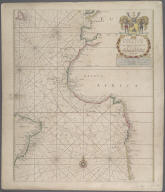 A Generall Chart from England to Cape Bona Espranca with the Coast of Brasile., A Generall Chart from England to Cape Bona Espranca with the Coast of Brasile.