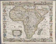 A new and most exact map of Africa described by N.I. Vischer and don into English; Enlarged and Corrected according to J. Blaeu and Others, With the Habits of ye people, and ye manner of ye Cheife sitties ye like never before., A new and most exact map of Africa described by N.I. Vischer and don into English; Enlarged and Corrected according to J. Blaeu and Others, With the Habits of ye people, and ye manner of ye Cheife sitties ye like never before.