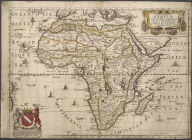 A new Map of Africa Designed by Mounsir Sanson, Geographer to the French King. Rendered into English and Illustrated with Figurs by ... by the Kings Especiall Command., A new Map of Africa Designed by Mounsir Sanson, Geographer to the French King. Rendered into English and Illustrated with Figurs by ... by the Kings Especiall Command.