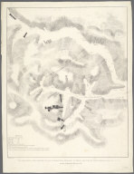 Topographical Map of the Valley of Biran Ell Malook, in which the Tombs of the Kings are situated., Topographical Map of the Valley of Biran Ell Malook, in which the Tombs of the Kings are situated.