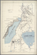 A Map of the Albert N'yanza and of the Routes leading to its Discovery in 1864 by Sir Samuel White Baker., A Map of the Albert N'yanza and of the Routes leading to its Discovery in 1864 by Sir Samuel White Baker.