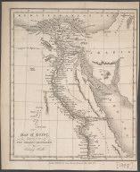 Map of Egypt ... Engraved for the Modern Traveller., Map of Egypt ... Engraved for the Modern Traveller.