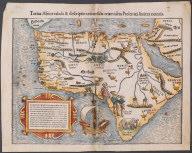 Totius Africae tabula et descriptio universalis etiam ultra Ptolemaei limites extensa., Totius Africae tabula et descriptio universalis etiam ultra Ptolemaei limites extensa.