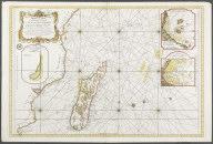 Carte Reduite du Canal de Mozambique et des Isles de Madagascar, de France, de Bourbon, de Rodriques et autres., Carte Reduite du Canal de Mozambique et des Isles de Madagascar, de France, de Bourbon, de Rodriques et autres.