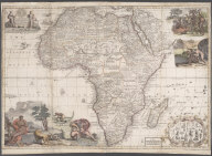 Africa corrected from observations of Mess. of ye Royal Societies at London and Paris., Africa corrected from observations of Mess. of ye Royal Societies at London and Paris.