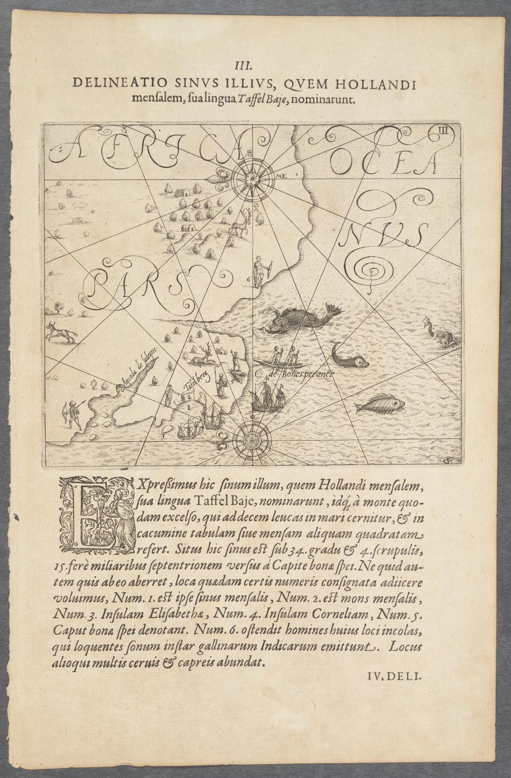 Delineatio Promontorii, Quod Cabo de bona Esperanca vulgo vocatur.