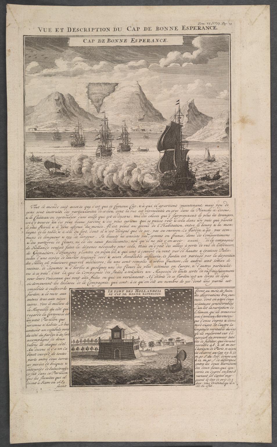 Vue et Description du Cap de Bonne Esperance.