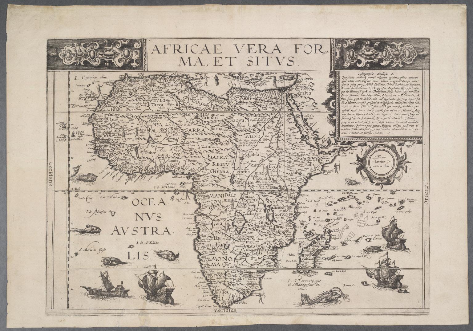 Africae Vera Forma, et Situs.