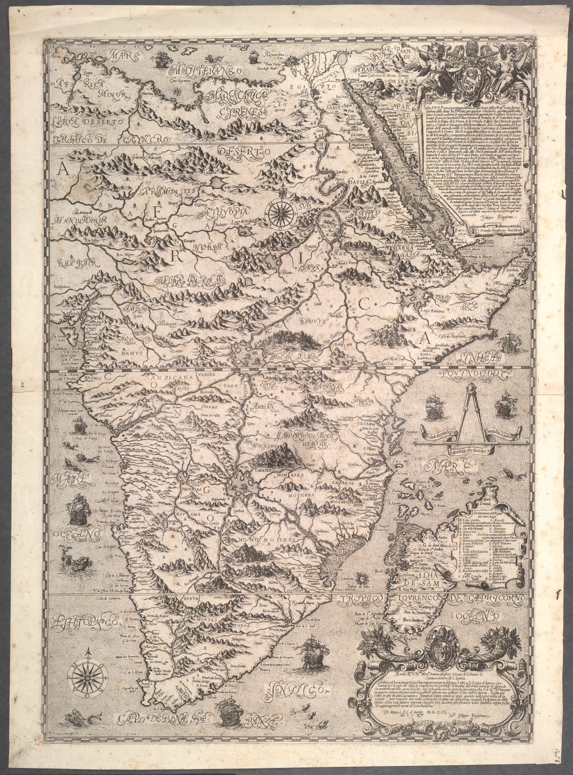 [Depicts Africa from the Mediterranean to The Cape, excluding West Africa]