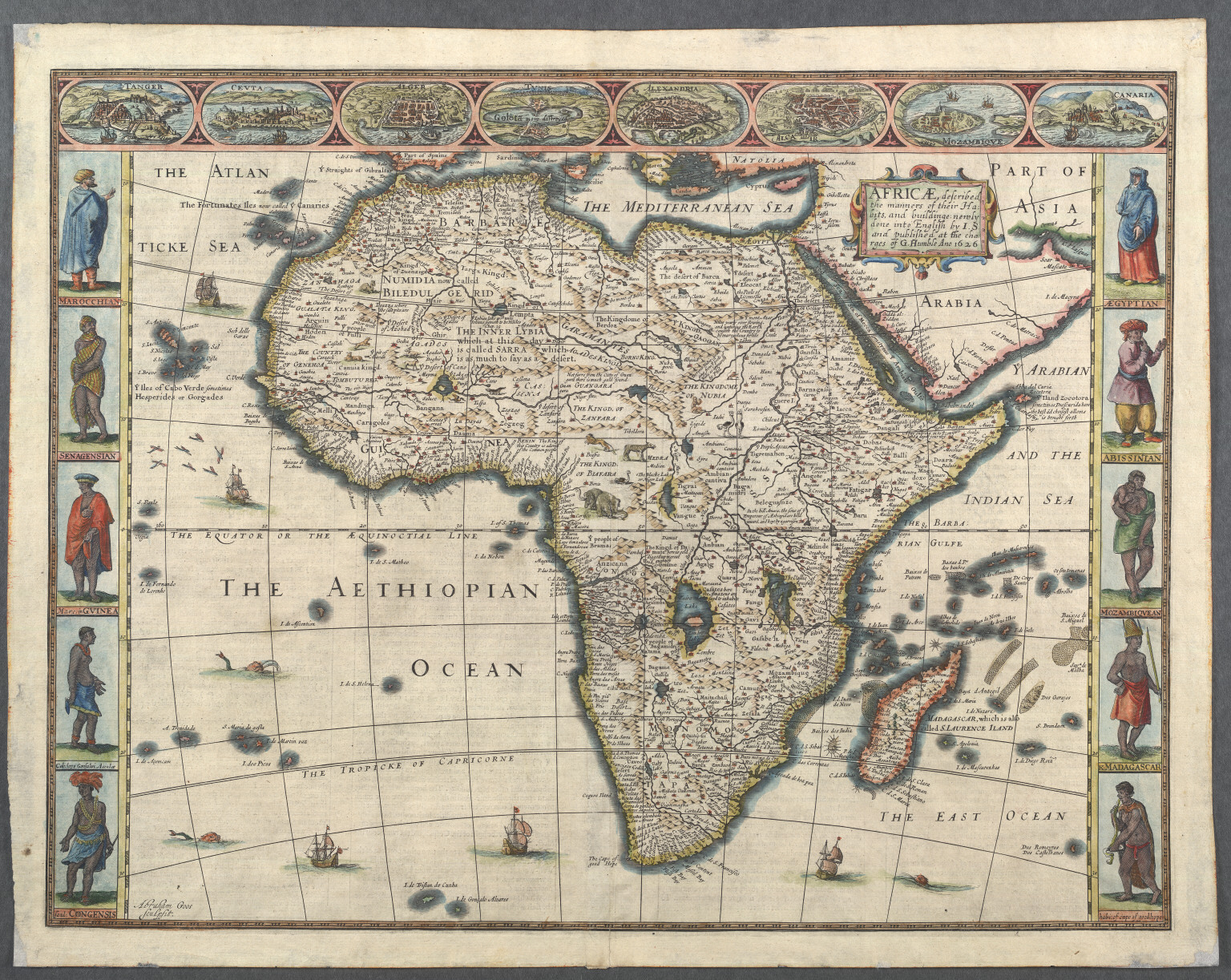 Africae, described, the manners of their Habits, and buildinge: ...