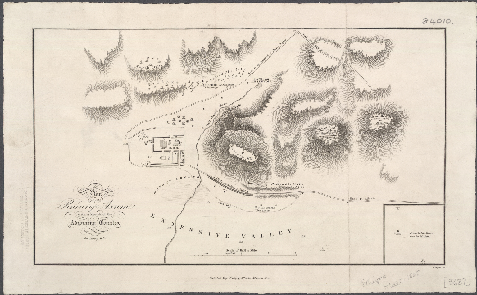 Plan of the Ruins of Axum with a Sketch of the Adjoining Country.