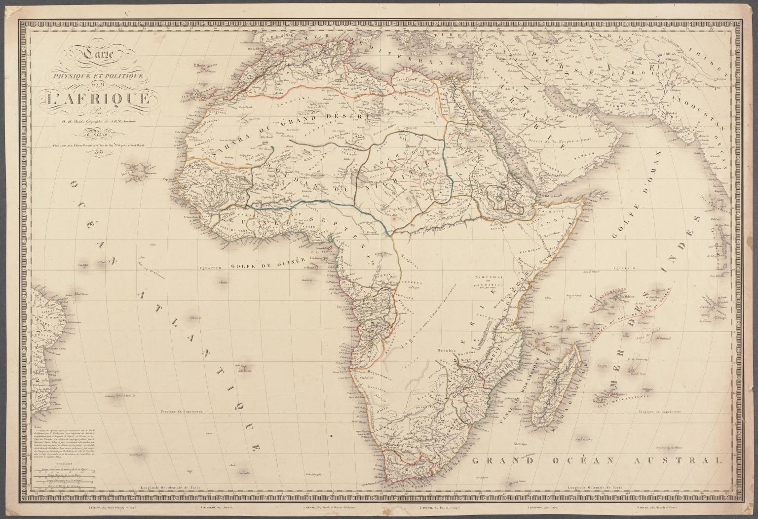 Carte Physique et Politique de L'Afrique.